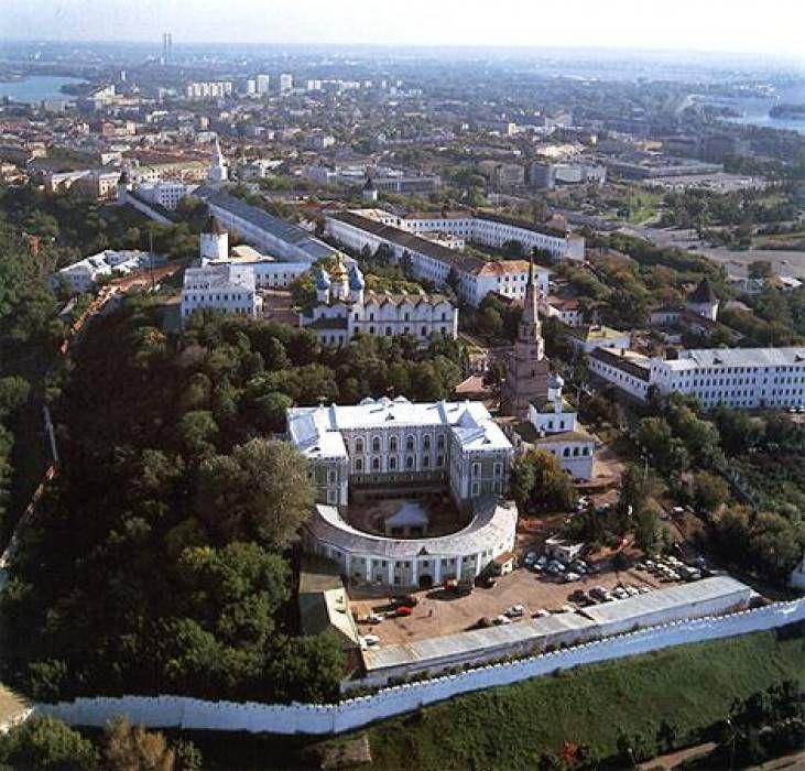 Вид на Кремль сверху.